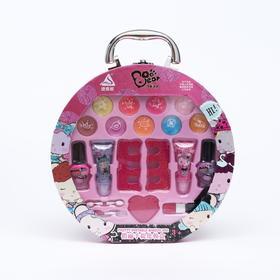 Набор косметики для девочек «Чемоданчик круглый»