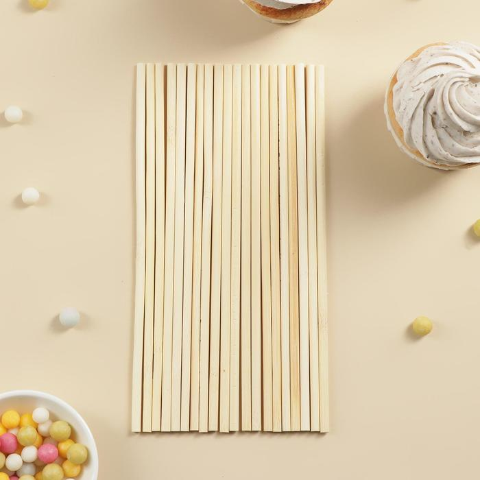 Набор палочек-дюбелей для кондитерских изделий Доляна, 20 шт, длина 20 см, бамбук