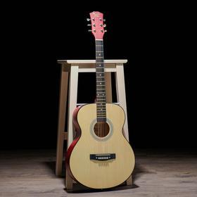Гитара акустическая, цвет бежевый, 102см