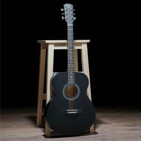 Гитара акустическая, цвет черный, 102см