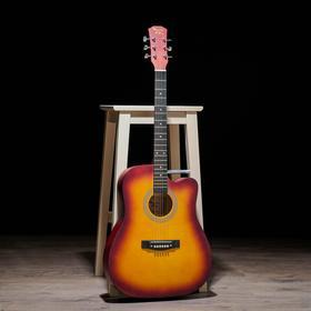 Гитара акустическая, цвет санберст, 104см, с вырезом