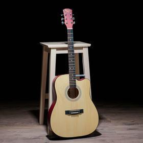 Гитара акустическая, цвет бежевый, 104см, с вырезом