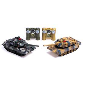 Танковый бой «Великое сражение», на радиоуправлении, 2 танка, с эффектом дыма