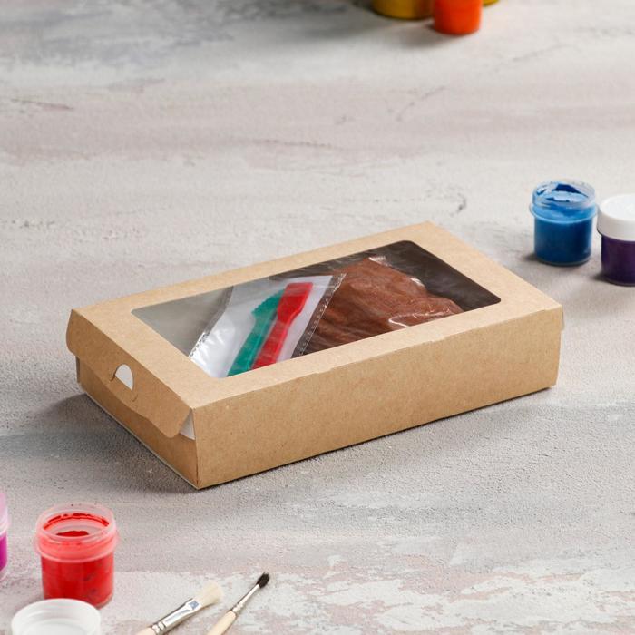 Набор для творчества с массой для лепки, стеки, красная глина 0.5 кг