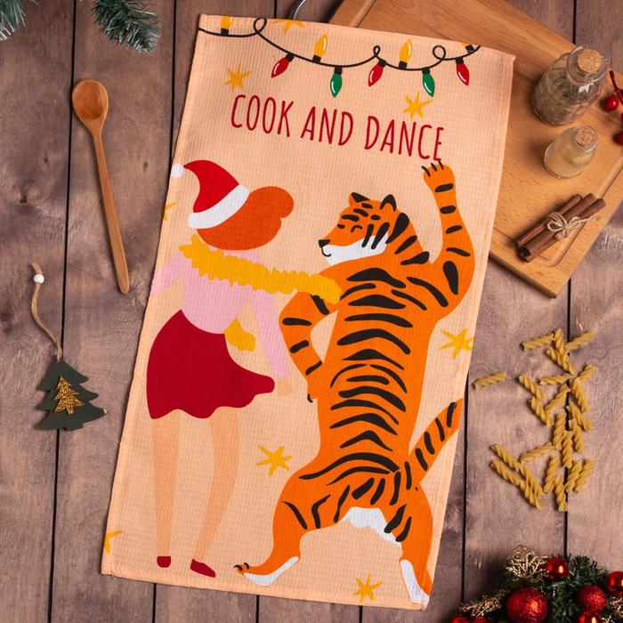 Полотенце Доляна Cook and dance 35х60 см,100% хлопок 160 г/м2