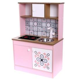 Набор игровой мебели «Детская кухня Розовая плитка»