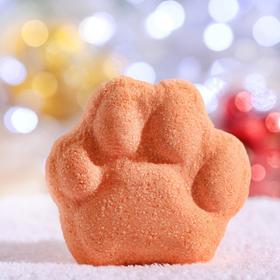 """Новогодняя бомбочка для ванн """"Лапа"""" Апельсин"""