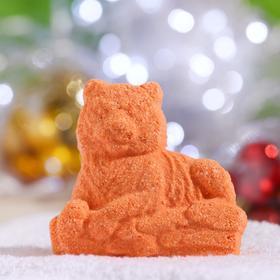 """Новогодняя бомбочка для ванн """"Тигрица"""" Шоколад"""