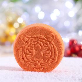 """Новогодняя бомбочка для ванн """"Тигра"""" Шоколад"""