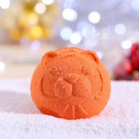 """Новогодняя бомбочка для ванн """"Тигруля"""" Шоколад"""