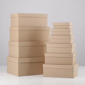 Набор подарочных коробок 10 в 1 «Крафт», 12 × 7 × 4 - 32.5 × 20 × 12.5 см