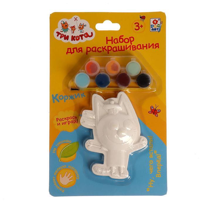 Набор для раскрашивания «Коржик» 1 гипсовая фигурка, 7 красок, кисточка
