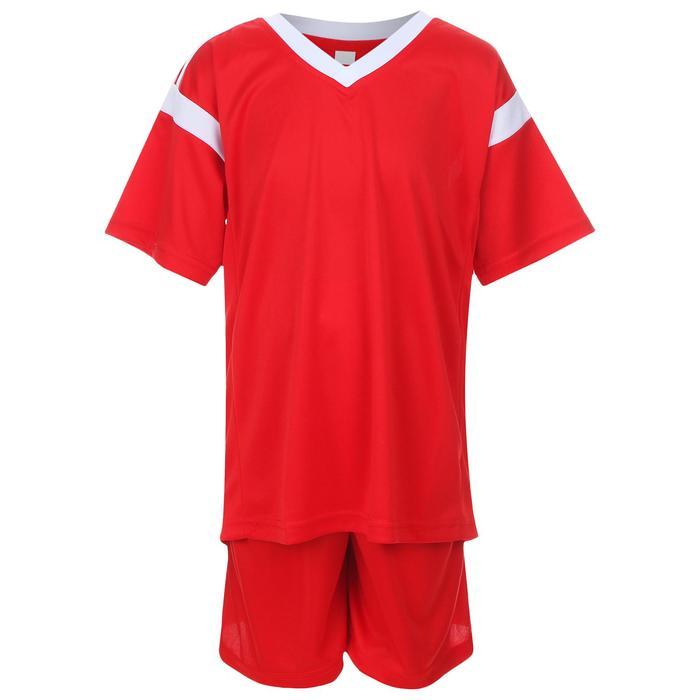 Форма футбольная, размер 40, цвет красный с белым - фото 3657255