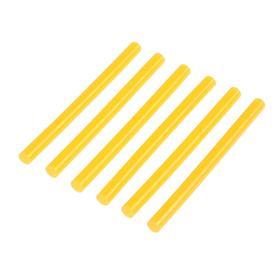 Клеевые стержни TUNDRA, 7 х 100 мм, желтые, 6 шт.