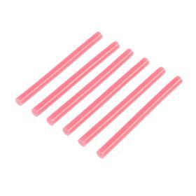 Клеевые стержни TUNDRA, 7 х 100 мм, розовые, 6 шт.