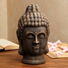 """Копилка """"Голова Будды"""", коричневая, 32 см"""