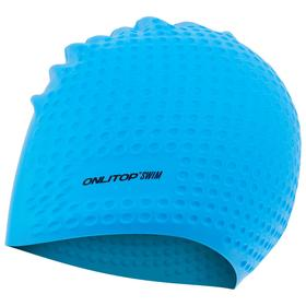 Шапочка для плавания, массажная, взрослая, силикон, цвета МИКС