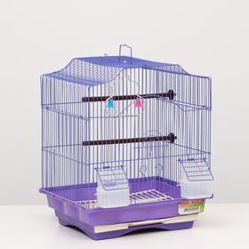 "Клетка для птиц ""Алиса"", укомплектованная, с кормушками 35 х 28 х 43 см, микс цветов"