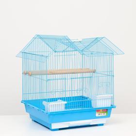 "Клетка для птиц ""Алиса"", укомплектованная, 40 х 40 х 49 см, микс цветов"
