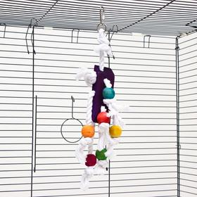 """Игрушка для птиц """"Чудесный куб"""", 35 см, микс цветов"""