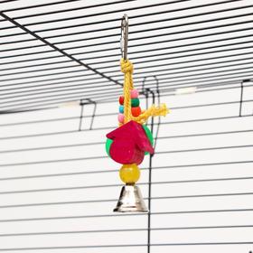 """Игрушка для птиц """"Весёлый колокольчик"""" 6,5 см, микс цветов"""