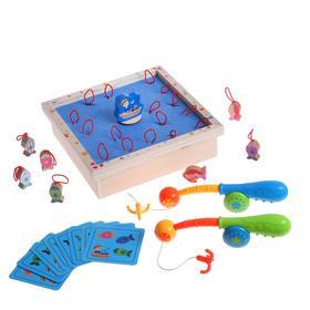 Детский развивающий набор «Рыбалка с крючками» 24×7×35 см