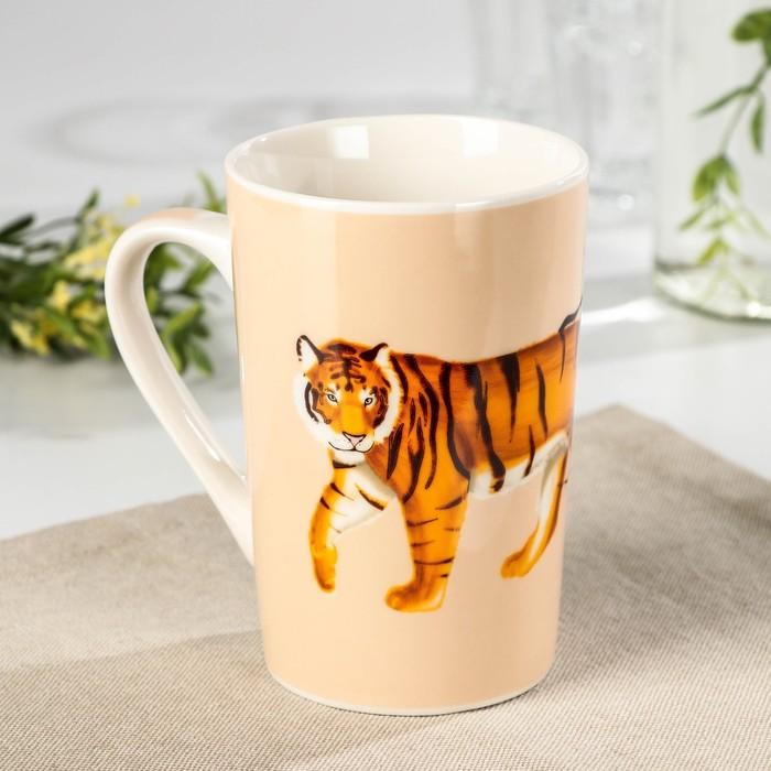 Кружка Доляна «Новый год. Уходящий тигр», 380 мл