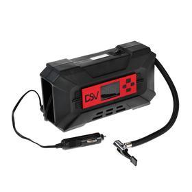 Компрессор DSV Smart, дисплей, LED фонарь, 30 л/мин, 12В, быстросъемное соединение
