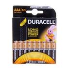 Батарейка алкалиновая Duracell, AАA, LR03-18BL, блистер, 18 шт.