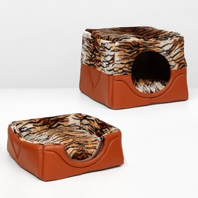 Дом-трансформер квадратный 43 х 43 х 34 см, расцветка тигр