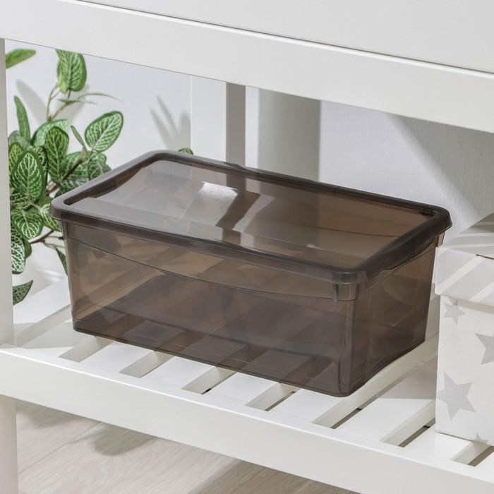 Ящик для хранения с крышкой «Колор. Стайл», 5 л, 32×19×12 см, цвет МИКС - фото 308334830