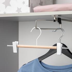 Вешалка для брюк и юбок SAVANNA Wood, 28×11,5×2,8 см, цвет белый