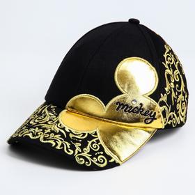 Кепка золотая, Микки Маус, р-р 56 см