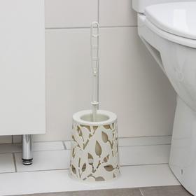 Ёрш для туалета «Флора», 14×41×41 см, цвет белый