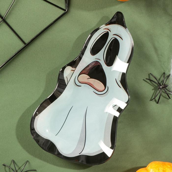 Блюдо сервировочное Доляна «Хэллоуин. Призрак», 20×11,2×1,8 см