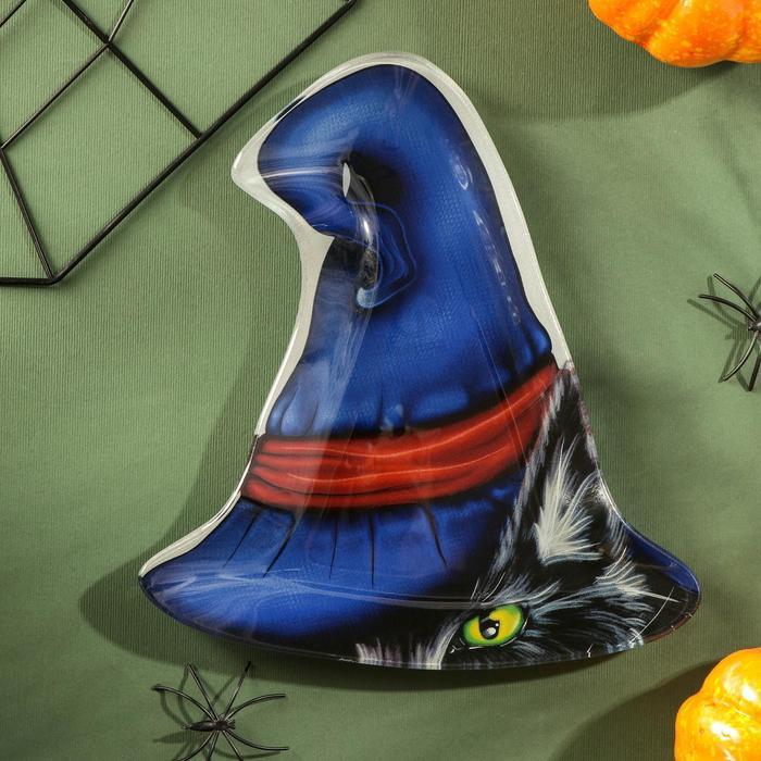 Блюдо сервировочное Доляна «Хэллоуин. Кот в шляпе»