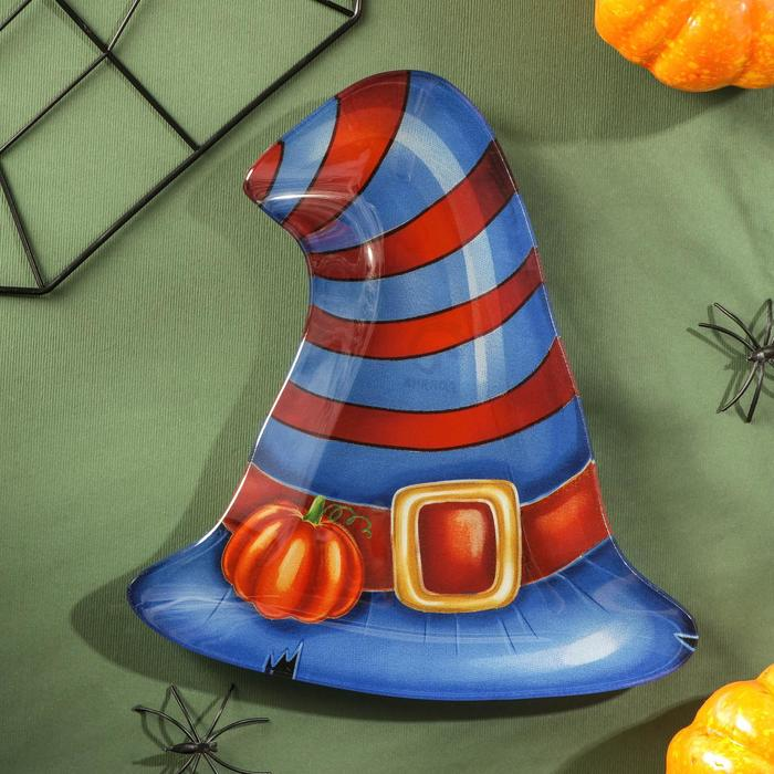 Блюдо сервировочное Доляна «Хэллоуин. Полосатая шляпа»