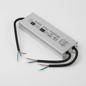 Блок питания для светодиодной ленты Ecola, 200 Вт, 200х98х42, 220-12 В, IP67