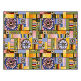 Ковер Радуга 150х200, разноцветный , BCF, войлок, полипропилен 100%