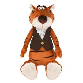 Мягкая игрушка «Тигр Гоша в замшевой жилетке и жабо», 25 см