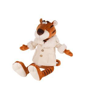Мягкая игрушка «Тигр Гоша в бежевой дубленке», 20 см
