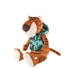 Мягкая игрушка «Тигр Федя в жилетке милитари», 20 см
