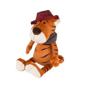 Мягкая игрушка «Тигр Глеб в шляпе и вязаном шарфе», 20 см