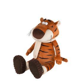Мягкая игрушка «Тигр Костян в вязаном шарфе и уггах», 20 см