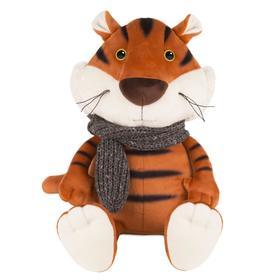 Мягкая игрушка «Тигруша в вязаном шарфе», 26 см