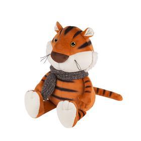 Мягкая игрушка «Тигруша в вязаном шарфе», 20 см