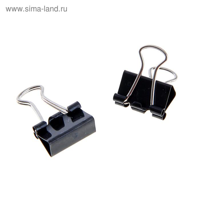 Набор зажимов для бумаг 15 мм (12 шт.), черный