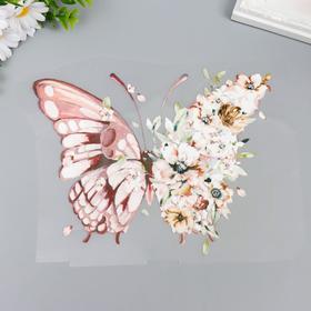 "Термонаклейка ""Бабочка в цветах - анемоны"" 20х25 см"