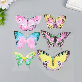 """Термонаклейка """"Акварельные бабочки"""" розовые 18х17,5 см"""