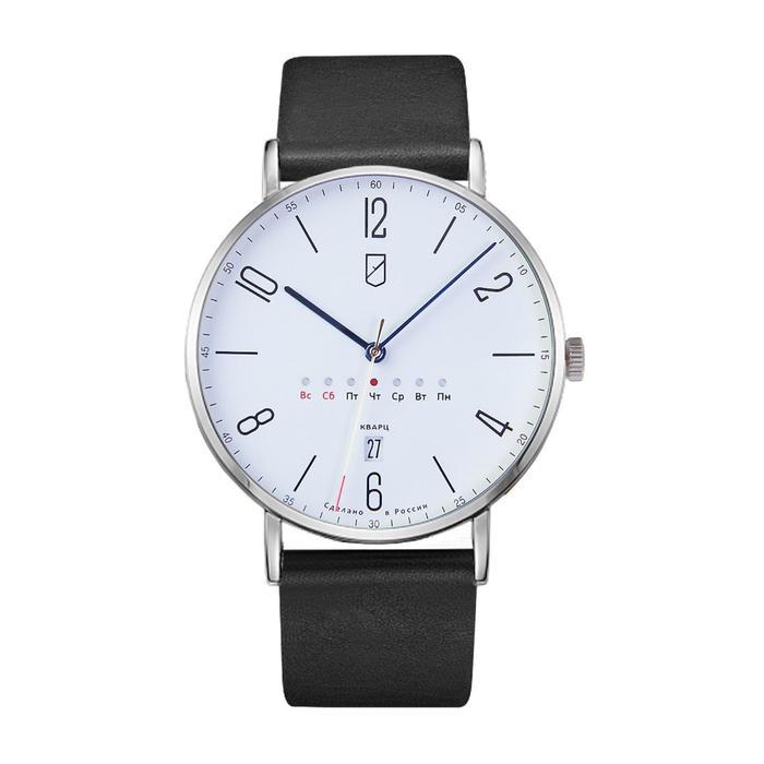 """Часы наручные мужские """"УЧЗ"""",  модель 1318B1L2, кварцевые - фото 3773862"""